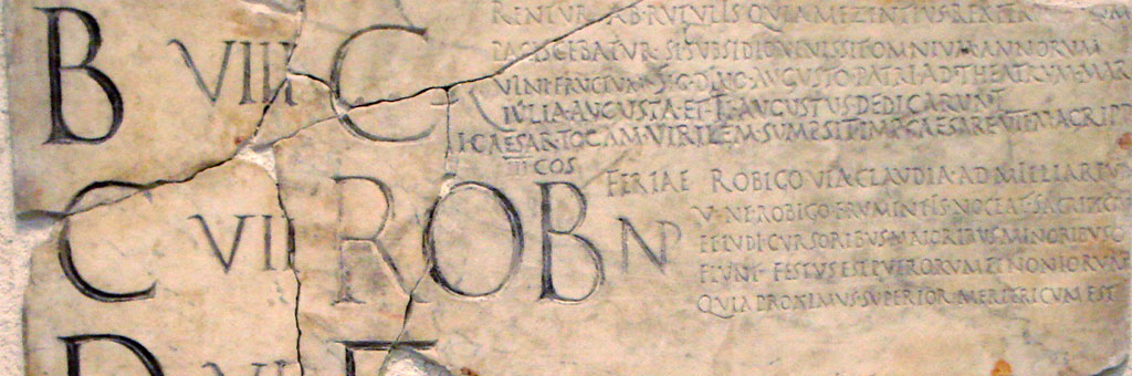 Detail from the Fasti Antiates, Palazzo Massimo alle Terme, Rome